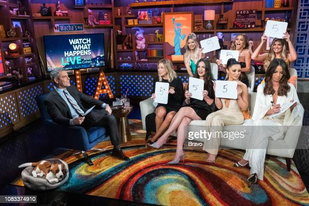 Andy Cohen Stassi Schroeder Ariana Madix Kate Maloney Scheana Shay Lala Kent Brittany Cartwright and Kristen Doute