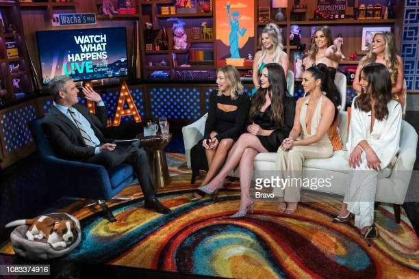 Andy Cohen Stassi Schroeder Ariana Madix Kate Maloney Scheana Shay Lala Kent Kristen Doute and Brittany Cartwright