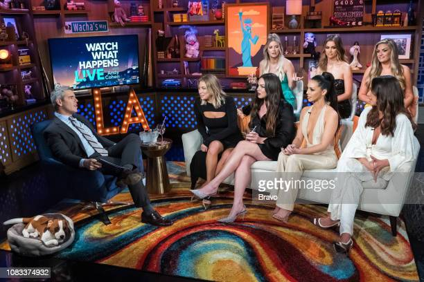Andy Cohen Stassi Schroeder Kate Maloney Ariana Madix Scheana Shay Lala Kent Brittany Cartwright and Kristen Doute