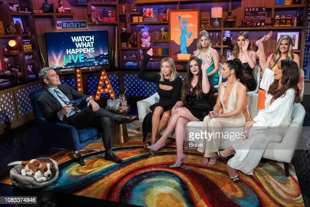 Andy Cohen Stassi Schroeder Kate Maloney Ariana Madix Scheana Shay Lala Kent Kristen Doute and Brittany Cartwright