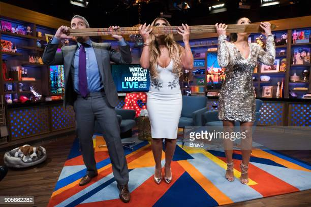 Andy Cohen Teresa Giudice and Melissa Gorga