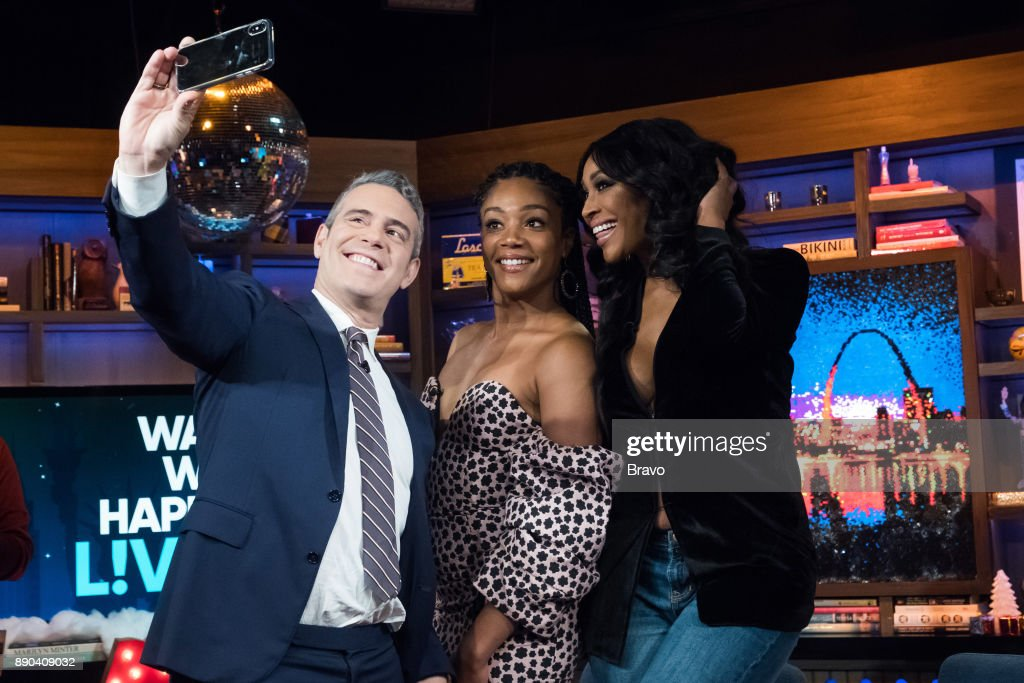Andy Cohen, Tiffany Haddish and Cynthia Bailey --