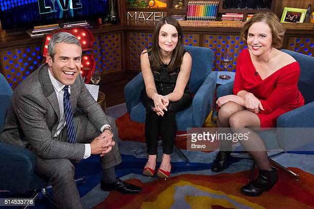 Andy Cohen Tina Fey and Kim Barker