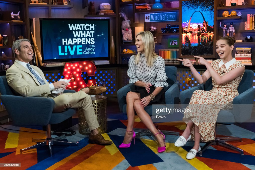 Andy Cohen, Tinsley Mortimer and Zoey Deutch --