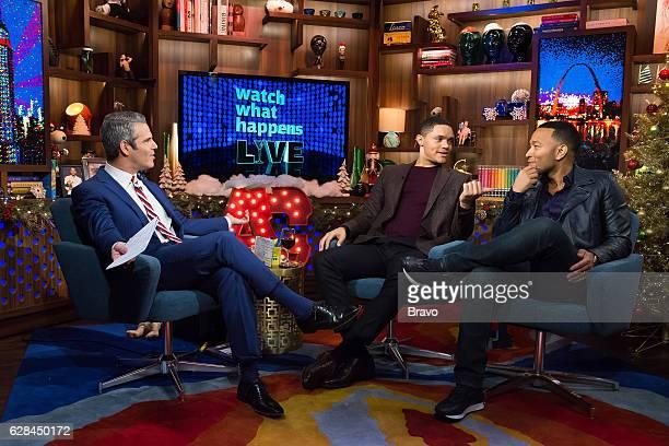 Andy Cohen Trevor Noah and John Legend