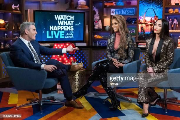 Andy Cohen Tyra Banks and Megan Fox