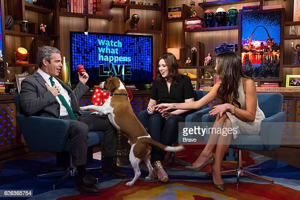 Andy Cohen Vanessa Bayer and Kristen Doute