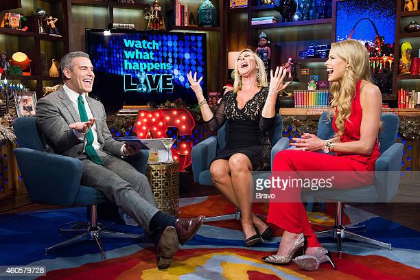 Andy Cohen Vicki Gunvalson and Beth Ostrosky Stern