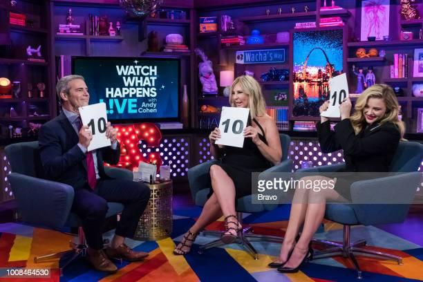 Andy Cohen Vicki Gunvalson and Chloe Grace Moretz