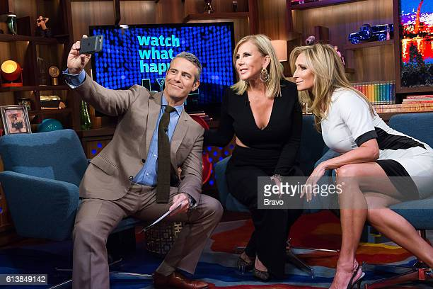 Andy Cohen Vicki Gunvalson and Sonja Morgan