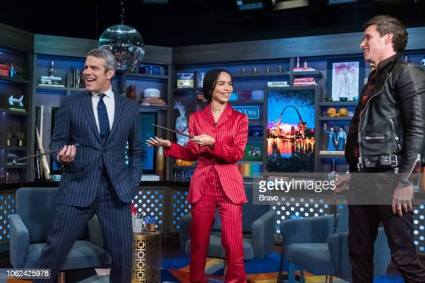 Andy Cohen Zoe Kravitz and Eddie Redmayne
