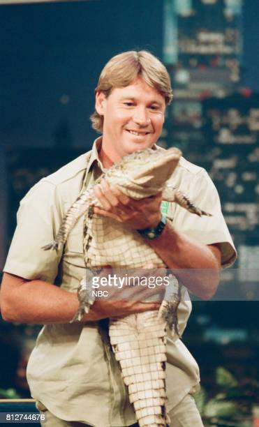 Pictured: Animal specialist Steve Irwin on April 9, 1998 --