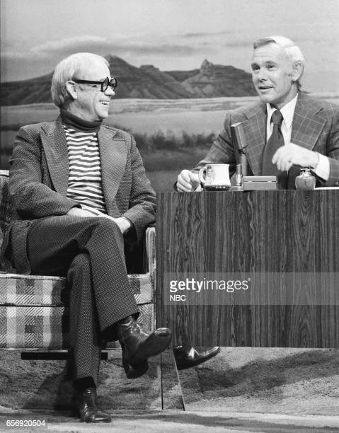 Animator Ward Kimball during an interview with Host Johnny Carson on February 11th 1976