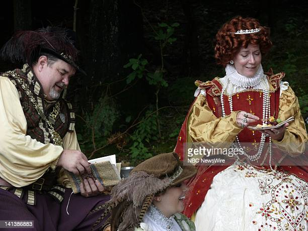 Ann Alford As Queen Elizabeth And Paul Freely As Lord Burghley -- The New York Renaissance Faire in Tuxedo, NY brings the past to the present. The...