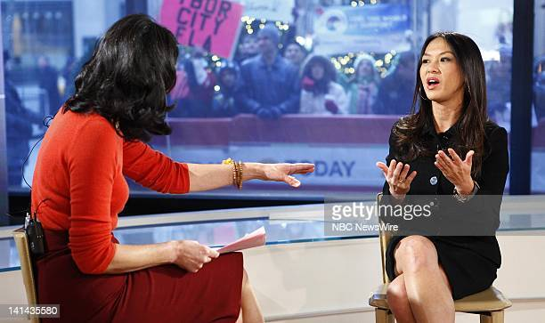 Ann Curry and Amy Chua appear on NBC News' 'Today' show Photo by Peter Kramer/NBC/NBC NewsWire