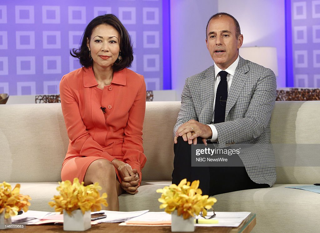 Ann Curry and Matt Lauer appear on NBC News' 'Today' show --