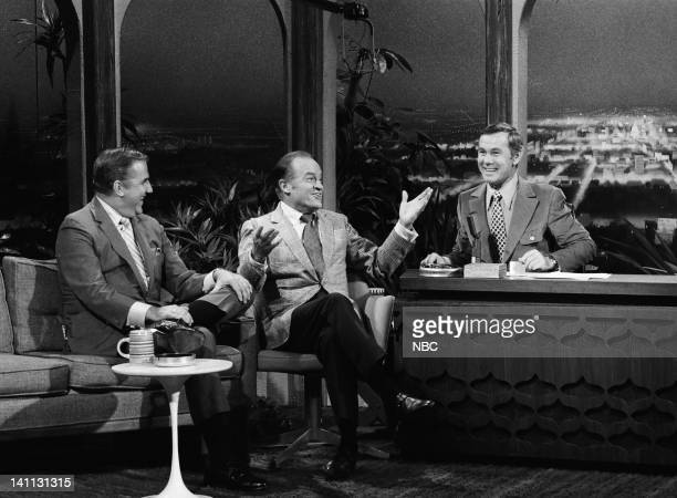 Announcer Ed McMahon actor/comedian Bob Hope host Johnny Carson on August 17 1969 Photo by Paul W Bailey/NBC/NBCU Photo Bank