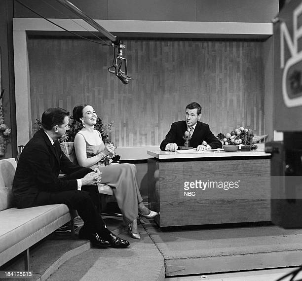 Announcer Ed McMahon actress/singer Patricia Morison host Johnny Carson on December 6 1962