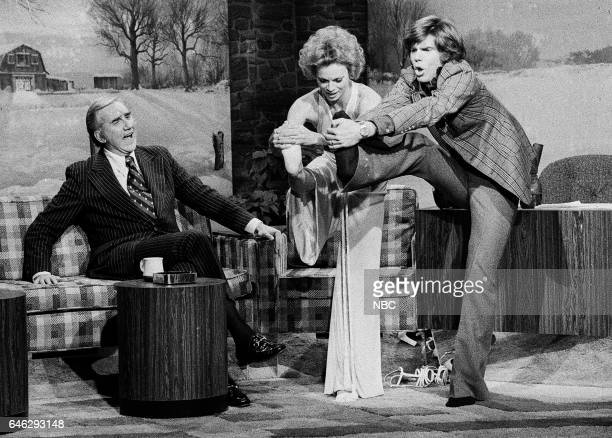 Announcer Ed McMahon and Actress Rose Marie during an Interview with Guest Host John Davidson on December 26th 1975