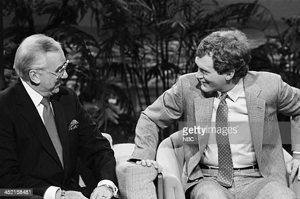 Announcer Ed McMahon comedian/talk show host David Letterman on October 23 1987