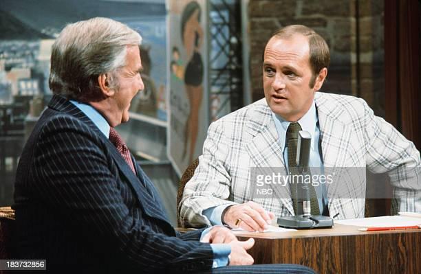 Announcer Ed McMahon guest host Bob Newhart c 1976