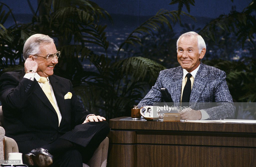 Announcer Ed McMahon, host Johnny Carson in the 1980s --