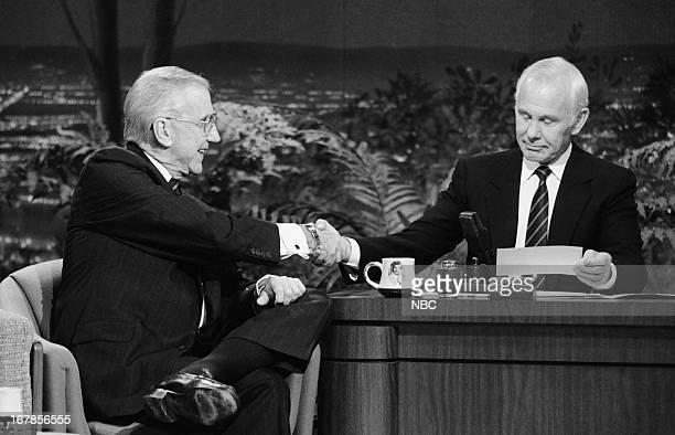 Announcer Ed McMahon host Johnny Carson on November 10 1989