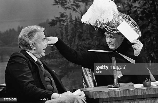 Announcer Ed McMahon Johnny Carson as Carnac the Magnificent on March 26 1980