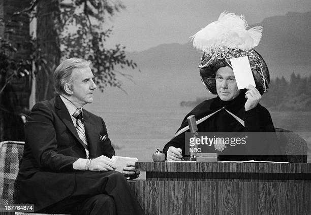 Announcer Ed McMahon Johnny Carson as Carnac the Magnificent on February 20 1979