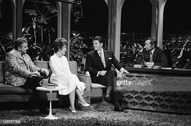 Announcer Ed McMahon Nancy Reagan California Governor Ronald Reagan host Johnny Carson on November 26 1970 Photo by Fred Sabine/NBC/NBCU Photo Bank
