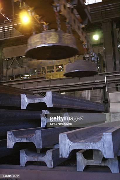 ArcelorMittal steel mill in Differdange Luxembourg on May 6 where the jumbo ibeams for the lower levels of Freedom Tower in New York are produced...