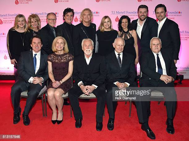 Pictured are Jackie Wilson TJ Martell Foundation's Laura Heatherly Gibson's Dave Berryman Big Machine Label Group's Scott Borchetta Joe Walsh of The...