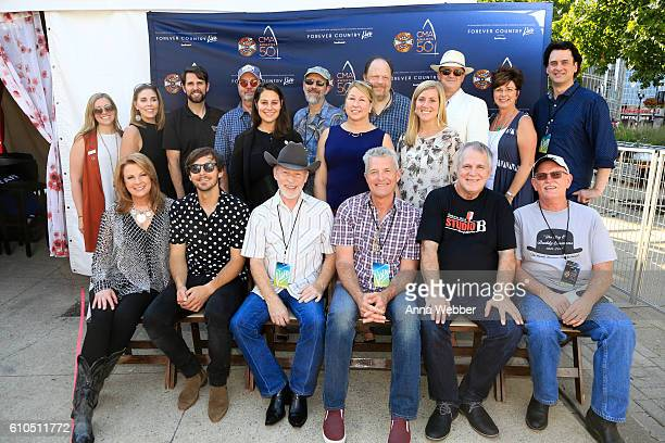 Pictured are Southwest Airlines' Kim Boller and Kimberly Greiner CMA's Damon Whiteside The Time Jumpers' Larry Franklin Music City Council Executive...