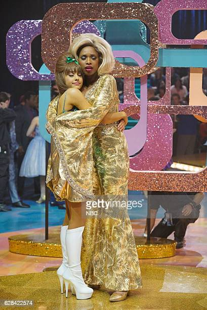 Pictured: Ariana Grande as Penny Pingleton, Jennifer Hudson as Motormouth Maybelle --