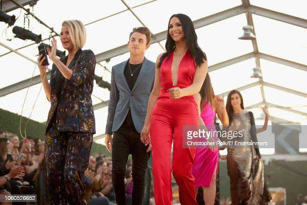 Ariana Madix James Kennedy and Scheana Shay arrive to the 2018 E People's Choice Awards held at the Barker Hangar on November 11 2018 NUP_185070