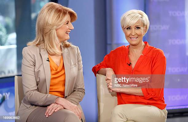 Arianna Huffington and Mika Brzezinski appear on NBC News' 'Today' show