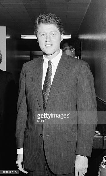 Arkansas Governor Bill Clinton backstage at the 'Tonight Show Starring Johnny Carson' on July 28 1988