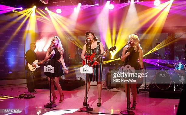 Ashley Monroe Angaleena Presley and Miranda Lambert of the Pistol Annie's appear on NBC News' Today show