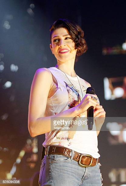 Ashley Mosa of Ha*Ash rehearses for the 2016 Billboard Latin Music Awards at the BankUnited Center in Miami Florida on April 25 2016 Ashley Mosa