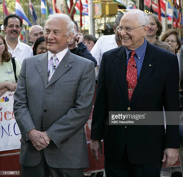 Astronauts Buzz Aldrin and Alan Bean on NBC News' 'Today' on September 5 2007 Photo by Virginia Sherwood/NBC NewsWire