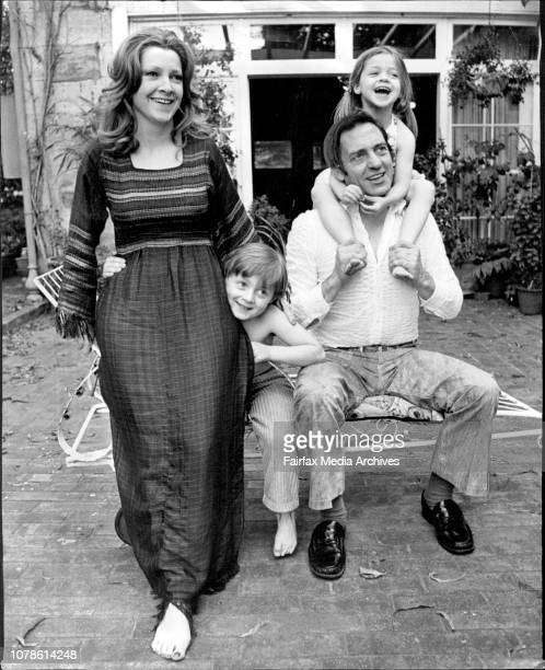 Pictured at home in Bellevue Hill this afternoon was Harry H Corbett of Steptoe fame with his lovely wife Maureen son Jonathan 6 and daughter Susanna...