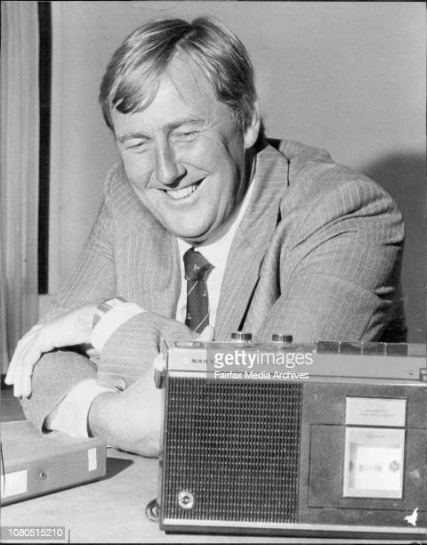 Pictured at the Australian broadcasting tribunal for 2 KY today are John SingletonJohn Singleton Advertising entrepreneur November 22 1982