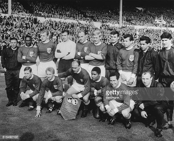 """Pictured at Wembley Stadium here before the start of the Football Association Cetenary Celebration match against England is the """"rest of the world..."""