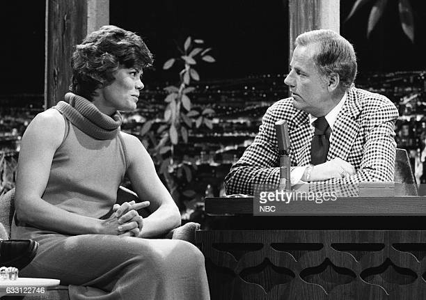 Athlete Mary Jo Peppler during an interview with Guest Host McLean Stevenson on February 24th 1975