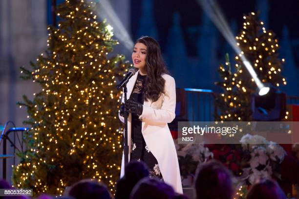 Auli'i Cravalho rehearses for the 2017 Christmas in Rockefeller Center
