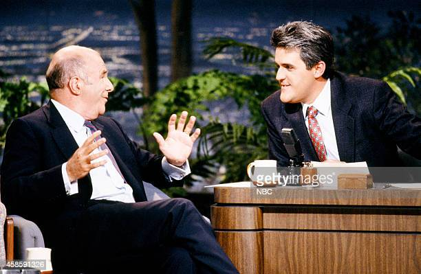 Author Clive James during an interview with guest host Jay Leno on May 1 1990