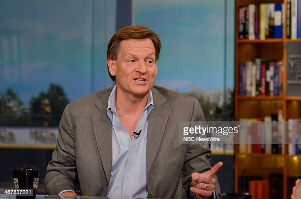 Author Michael Lewis appears on 'Meet the Press' in Washington DC Sunday April 6 2014