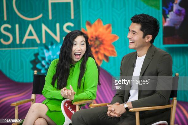 Awkwafina and Henry Golding on Friday August 17 2018