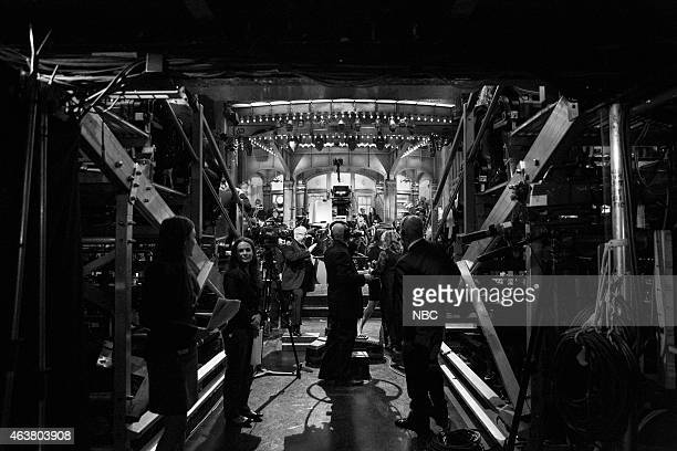 backstage at the SNL 40th Anniversary Special at 30 Rockefeller Plaza in New York NY on February 15 2015