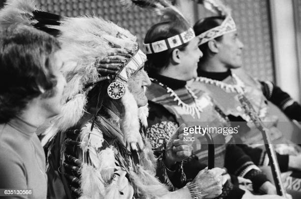 Band Leader Doc Severinsen Chief Red Fox and members of the Oglala Lakota Sioux tribe on September 10th 1971